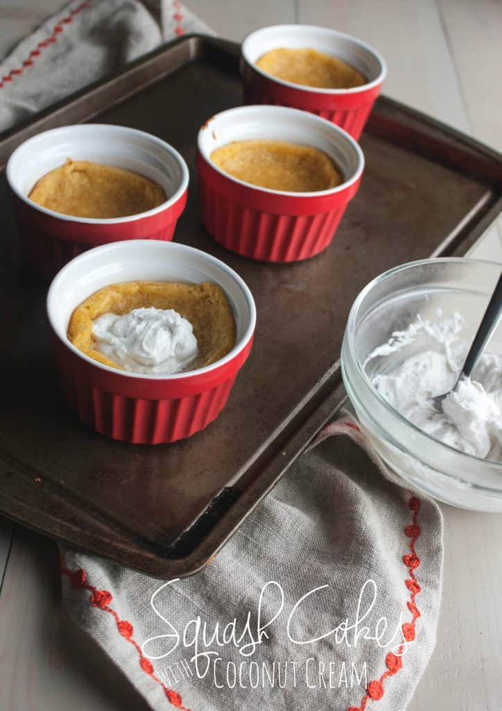 Squash-cakes-with-coconut-cream-vegan-dessert