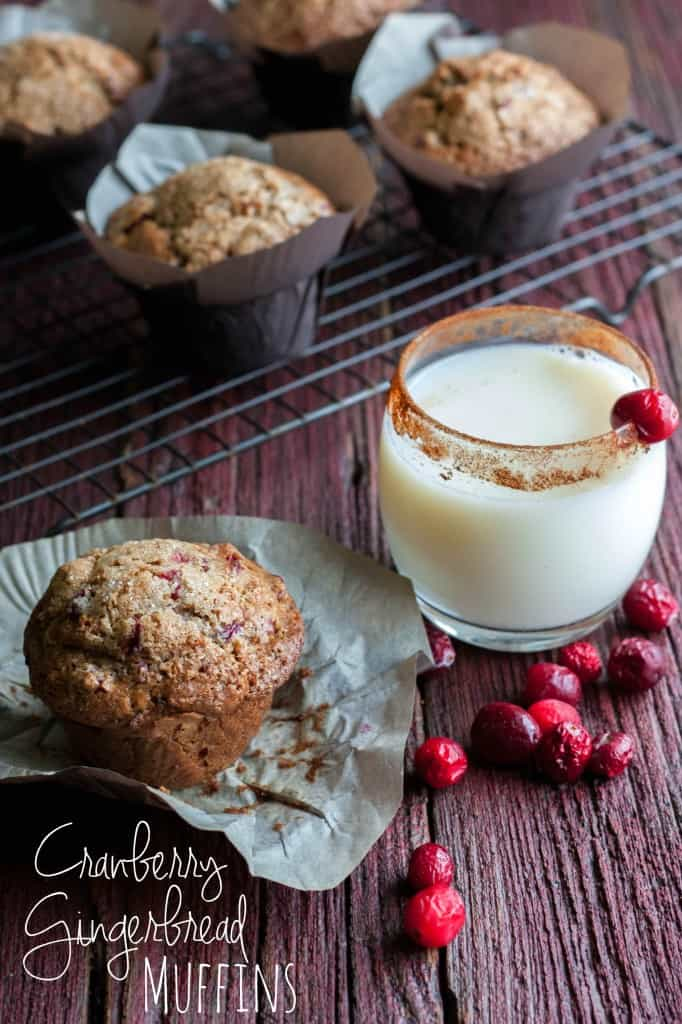 Cranberry-Gingerbread-Muffins