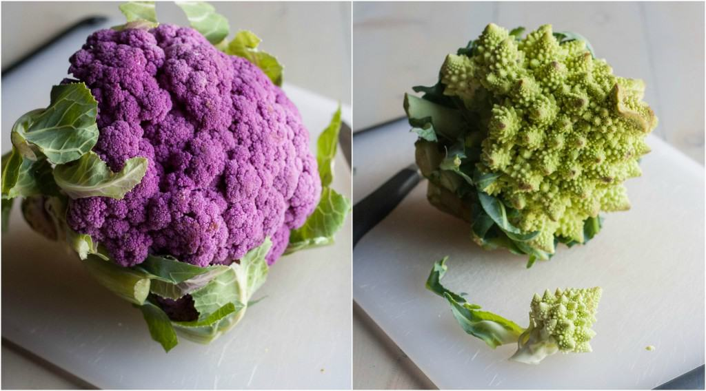 Romanesco-and-purple-cauliflower