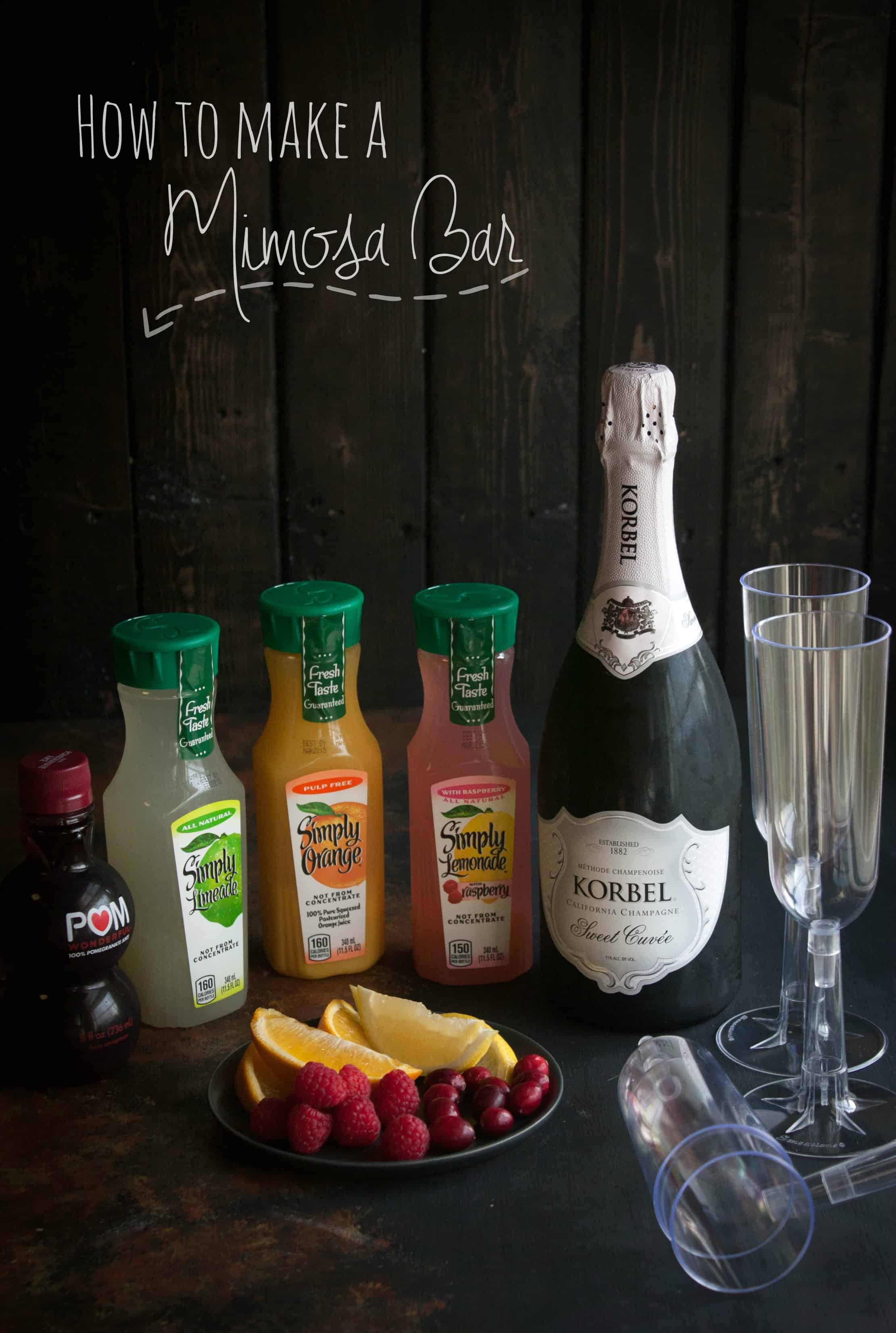 How To Make A Mimosa Bar From Sweetphi Set Up