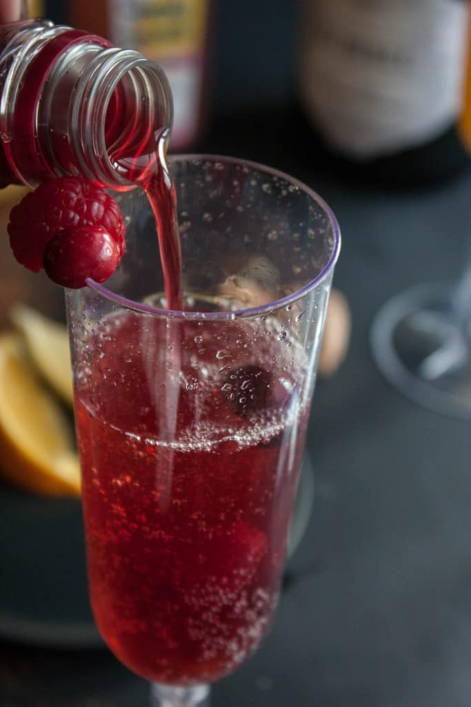 Pomegranate-mimosa