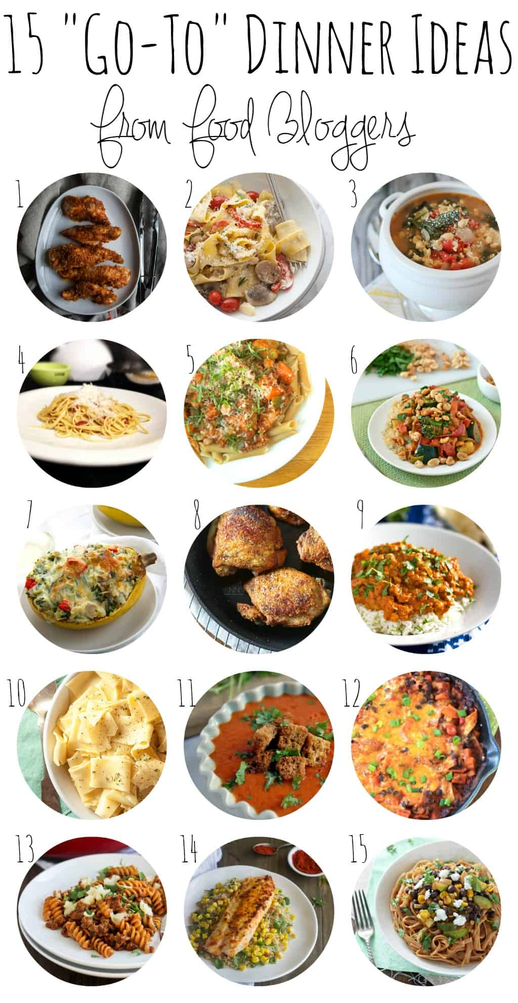 need dinnertime inspiration 15 go to meals from food bloggers