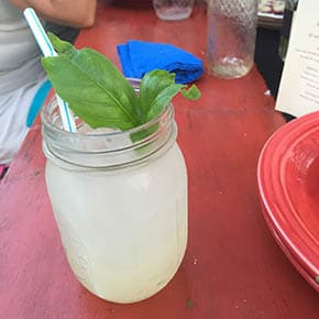 Reader Recreation Basil lemonade