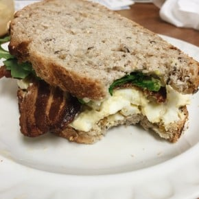 Reader recreation- egg salad sandwich with bacon