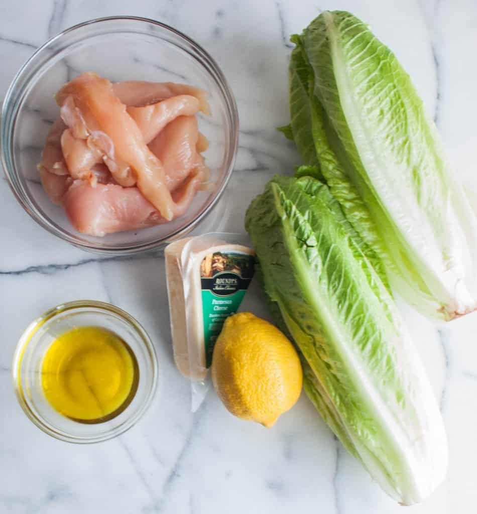 Parmesan-crusted-romaine-and-chicken-salad-ingredients