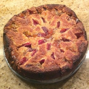 Reader recreation - plum and apricot preserves sticky cake