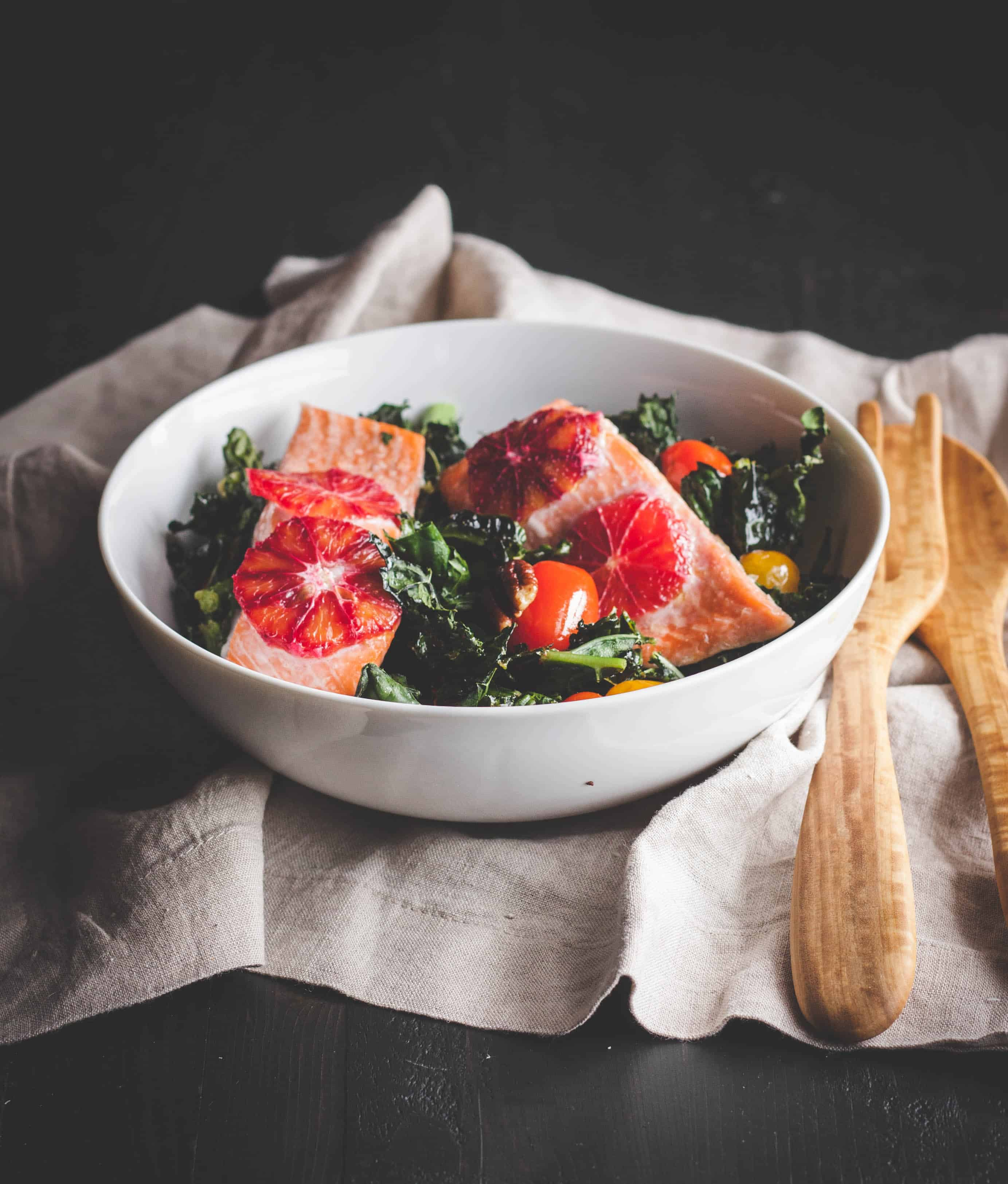 Roasted-Kale-and-Salmon-Detox-salad-with blood oranges