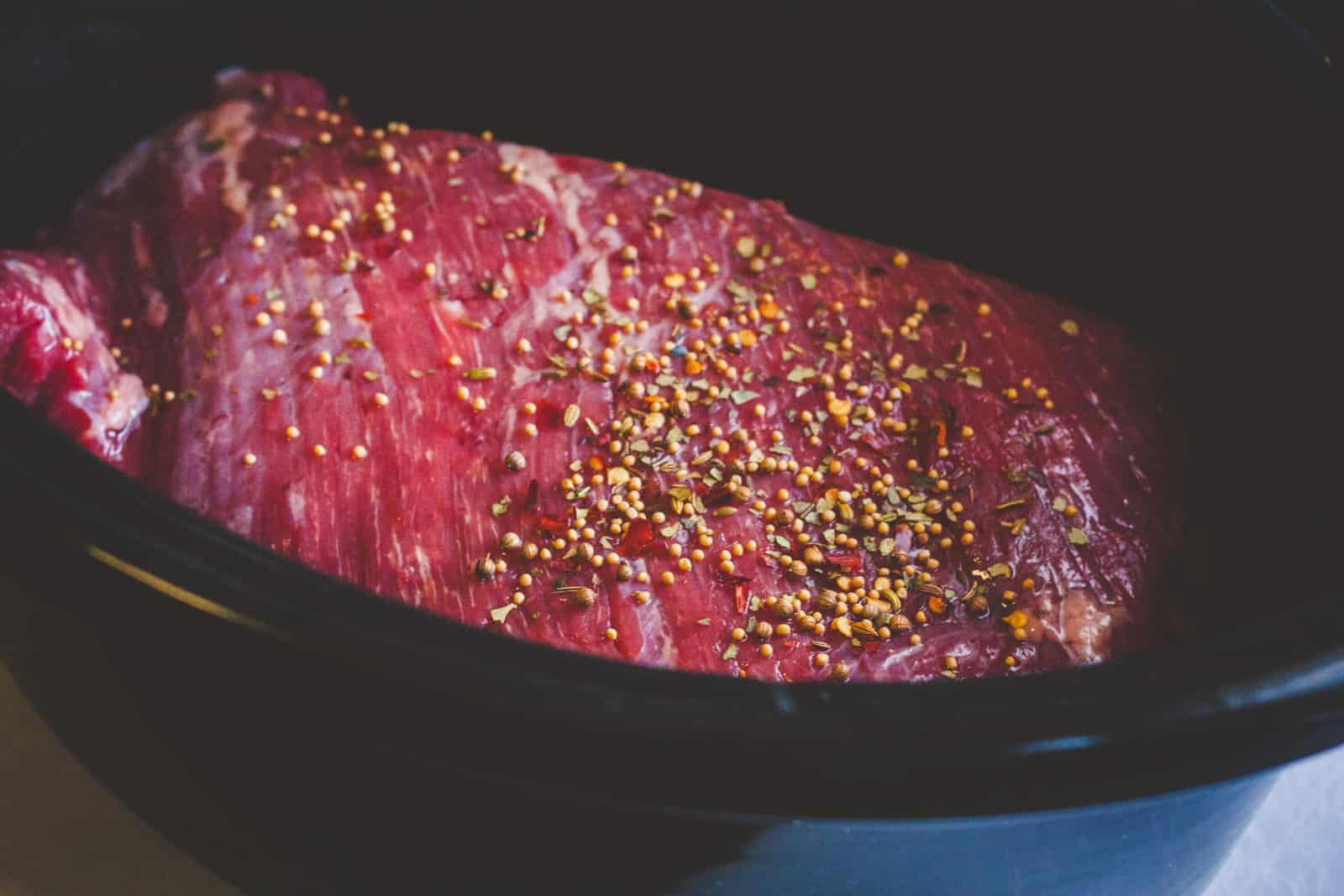 Slow cooker corned beef for St. Patricks Day