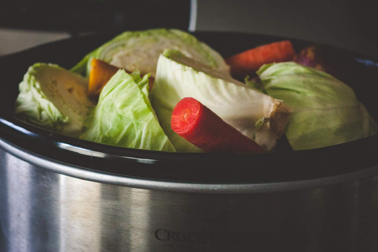 5 ingredient crockpot corned beef cabbage carrots and potatoes recipe for St. Patrick's day