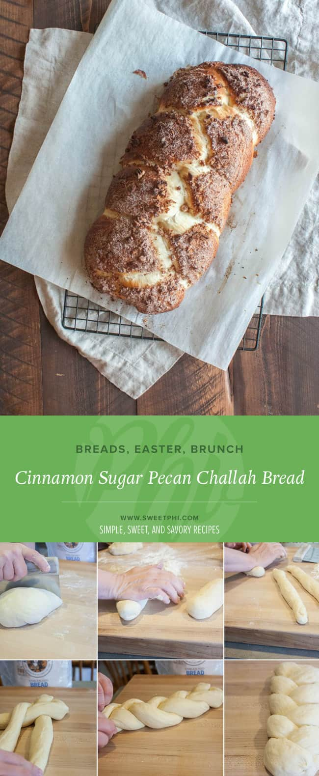This Cinnamon Challah Bread is am amazing addition to any brunch menu.