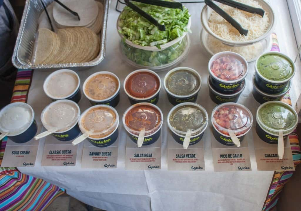 Qdoba salsas