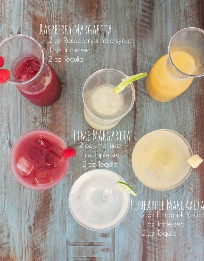 How to make a margarita bar - 3 types of margaritas