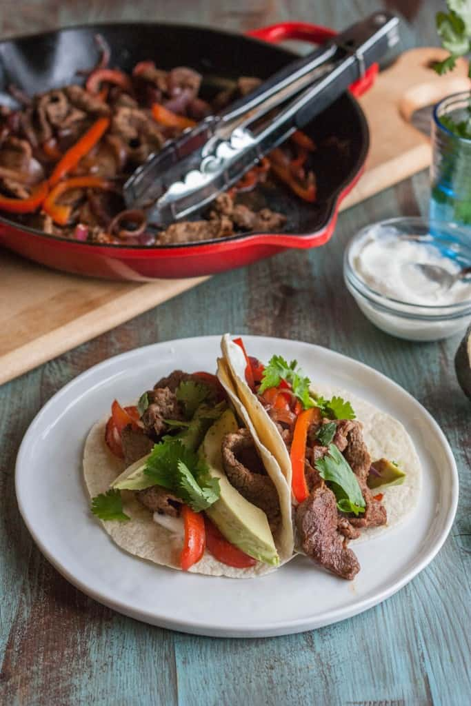Steak tacos for two