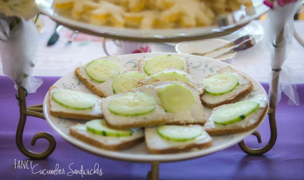 fancy cucumber sandwiches