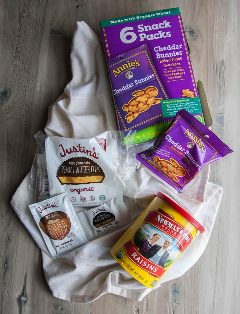 Organic road trip snacks