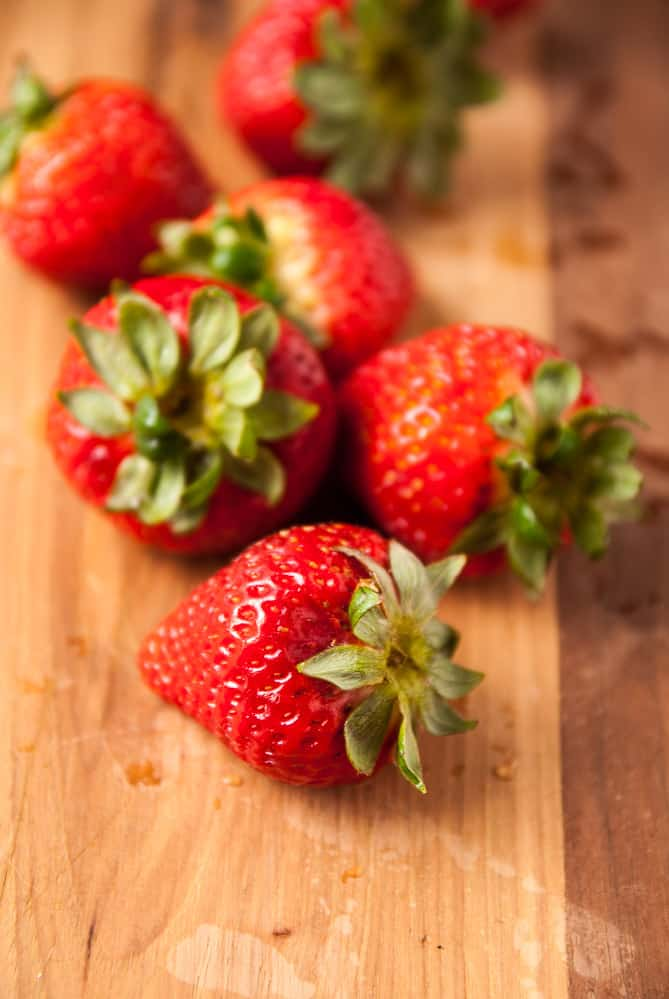Strawberries for strawberry crisp