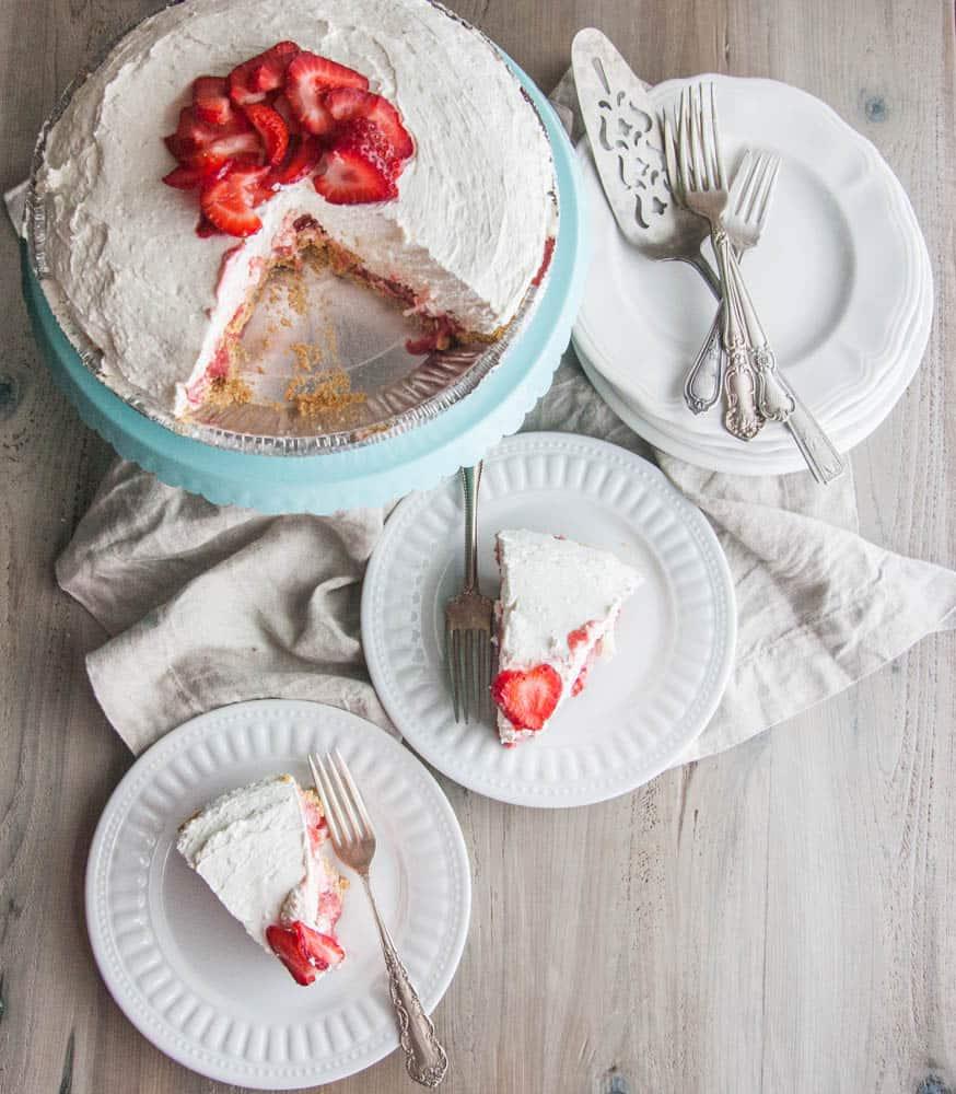 Strawberries and cream icebox pie from @sweetphi