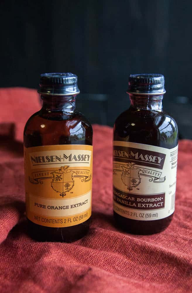Nielsen-Massey orange and vanilla extract