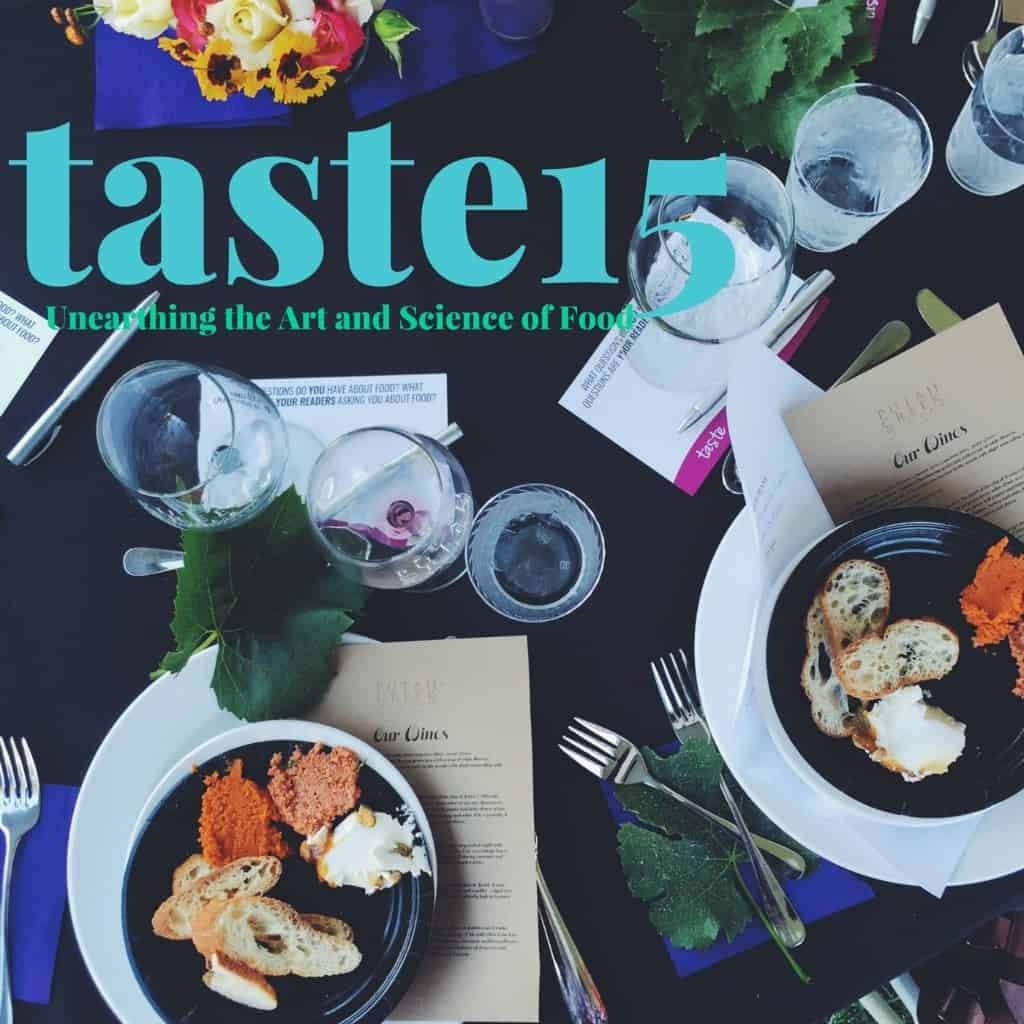 Taste15-unearthing the art and science of food