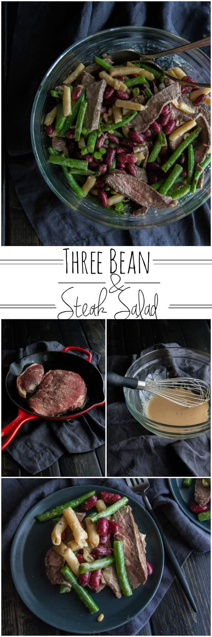 Three bean and steak salad from @sweetphi