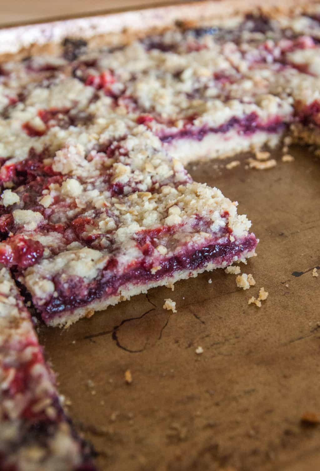 5 ingredient jam crumble bars