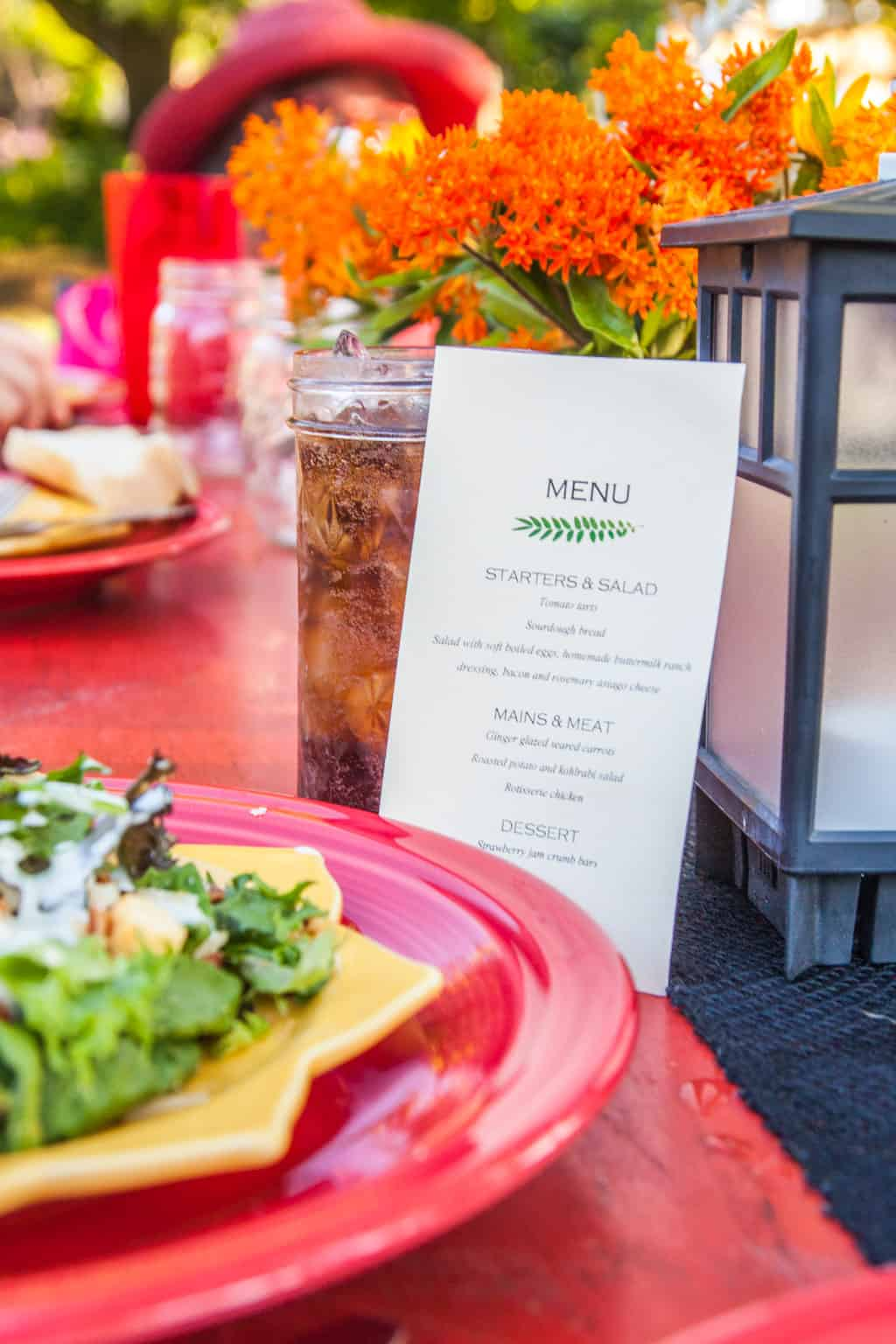 Farm to table dinner menu from @sweetphi