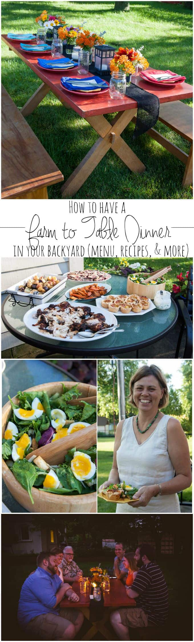 How to have a farm to table dinner in your backyard - menu recipes and more from @sweetphi