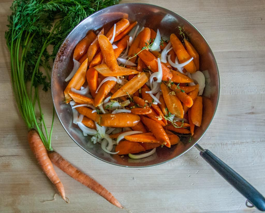 ginger glazed seared carrots