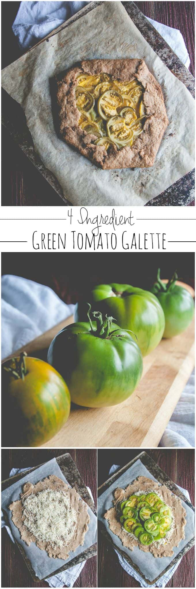 4 ingredient whole wheat green tomato galette from @sweetphi