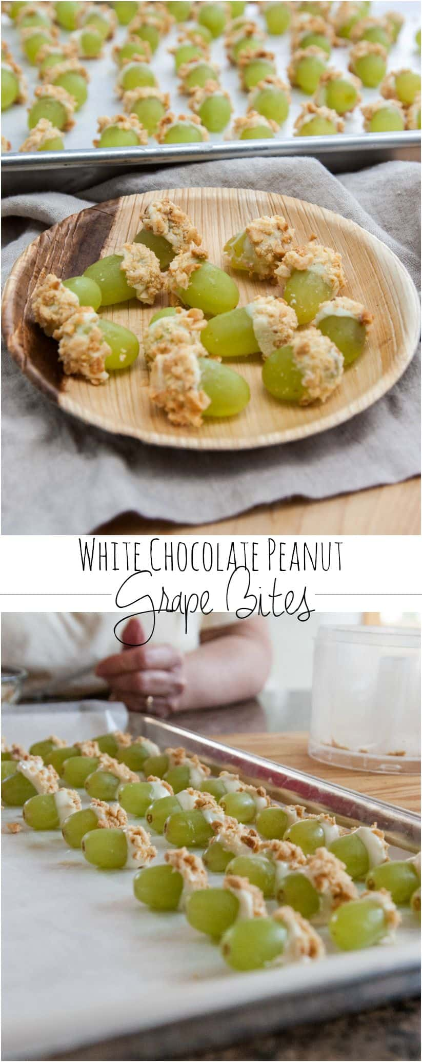 White chocolate peanut covered grape bites from @sweetphi