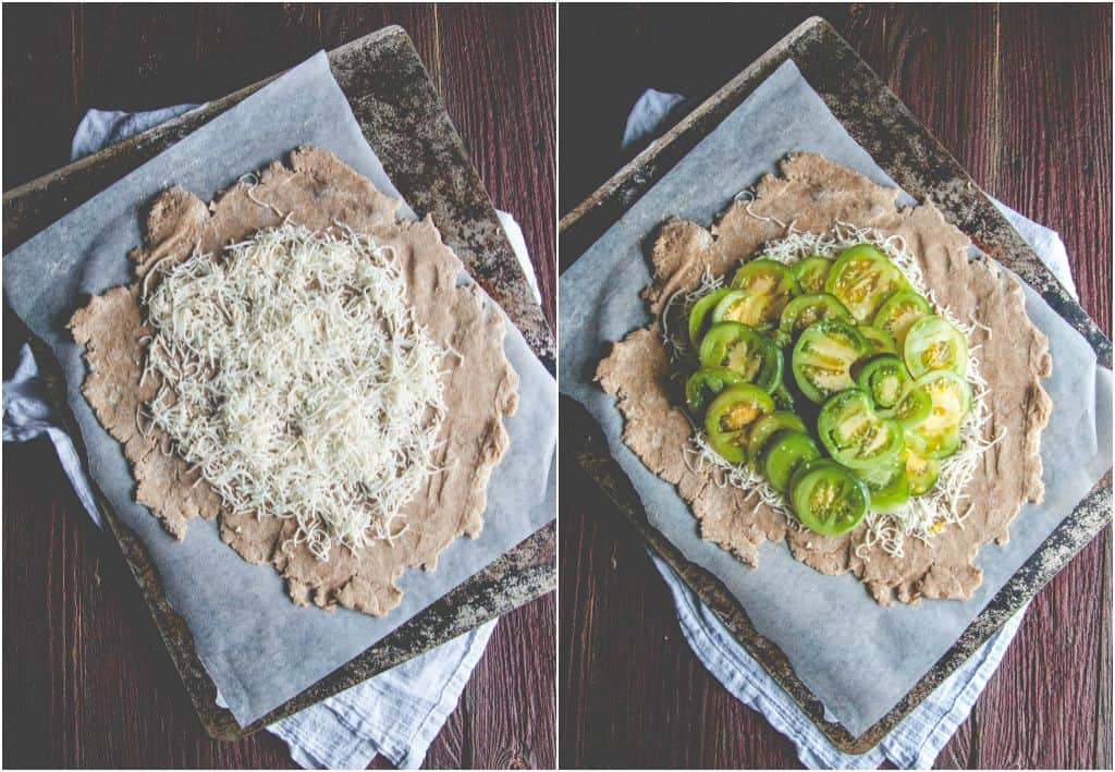 How to make a whole wheat green tomato galette from @sweetphi