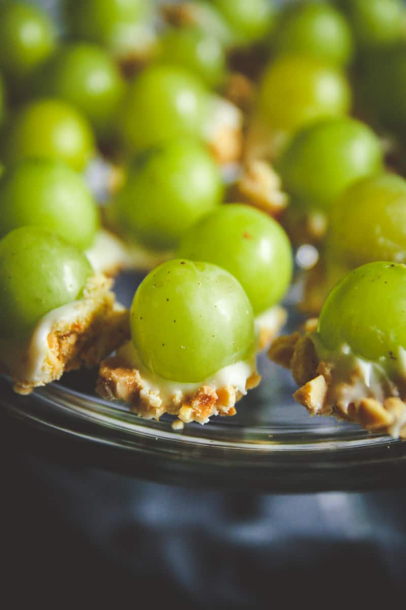 white chocolate grape bites snack recipe
