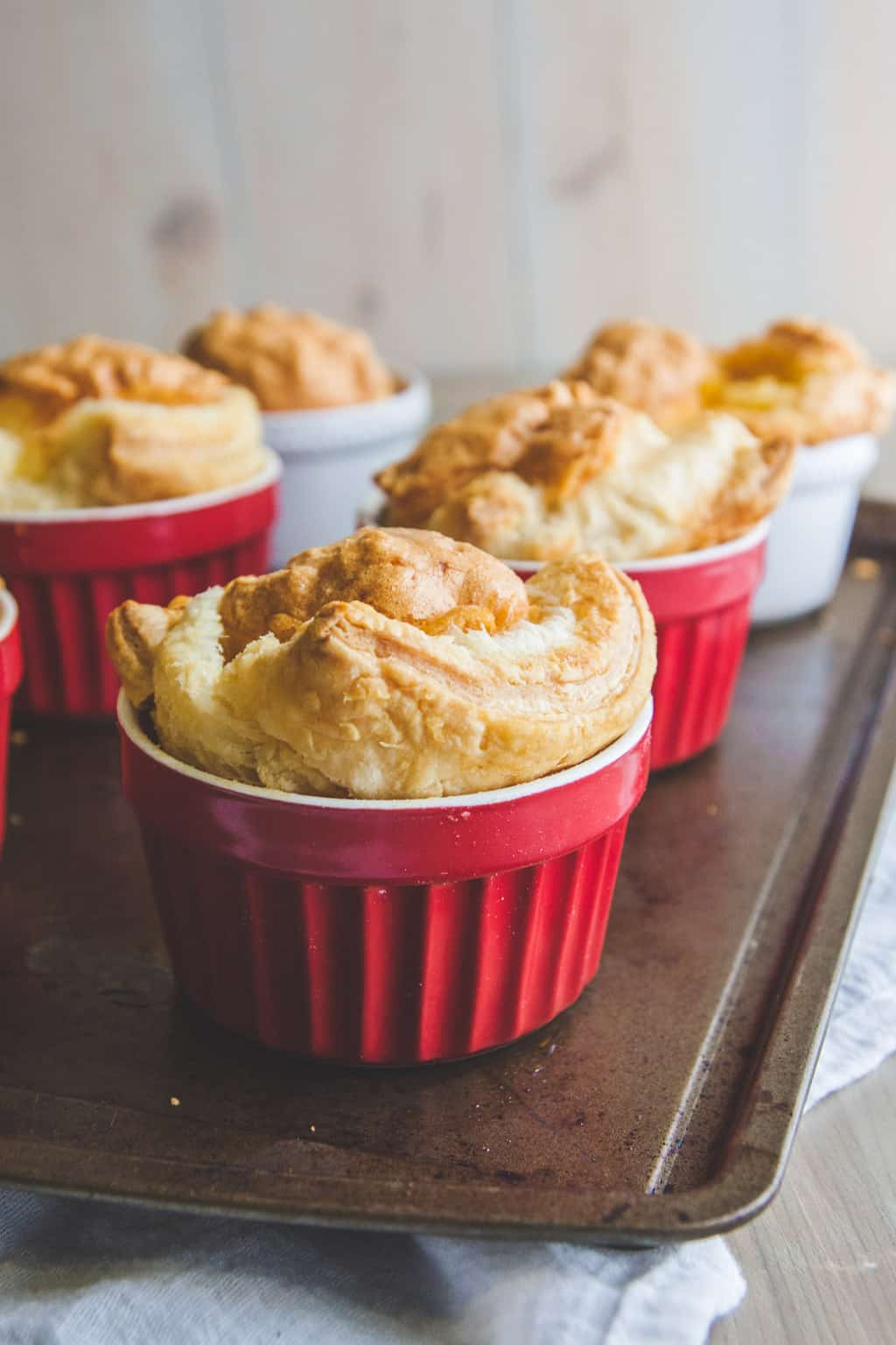 5 ingredient egg souffles made with Blue Sky Family Farms Eggs from @sweetphi