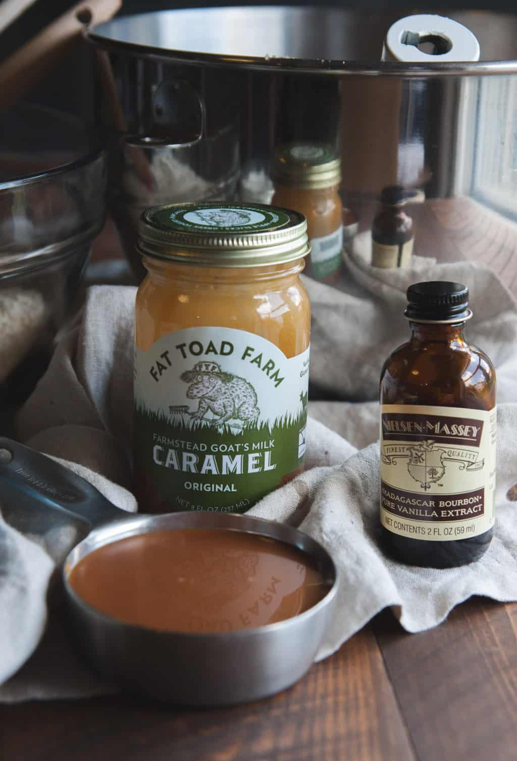 Fat toad farm caramel and Nielsen Massey Vanilla