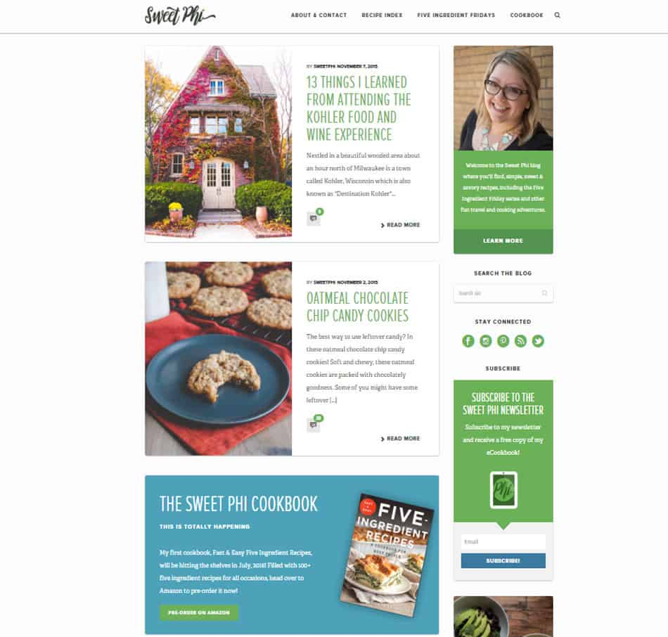 SweetPhi Web Redesign