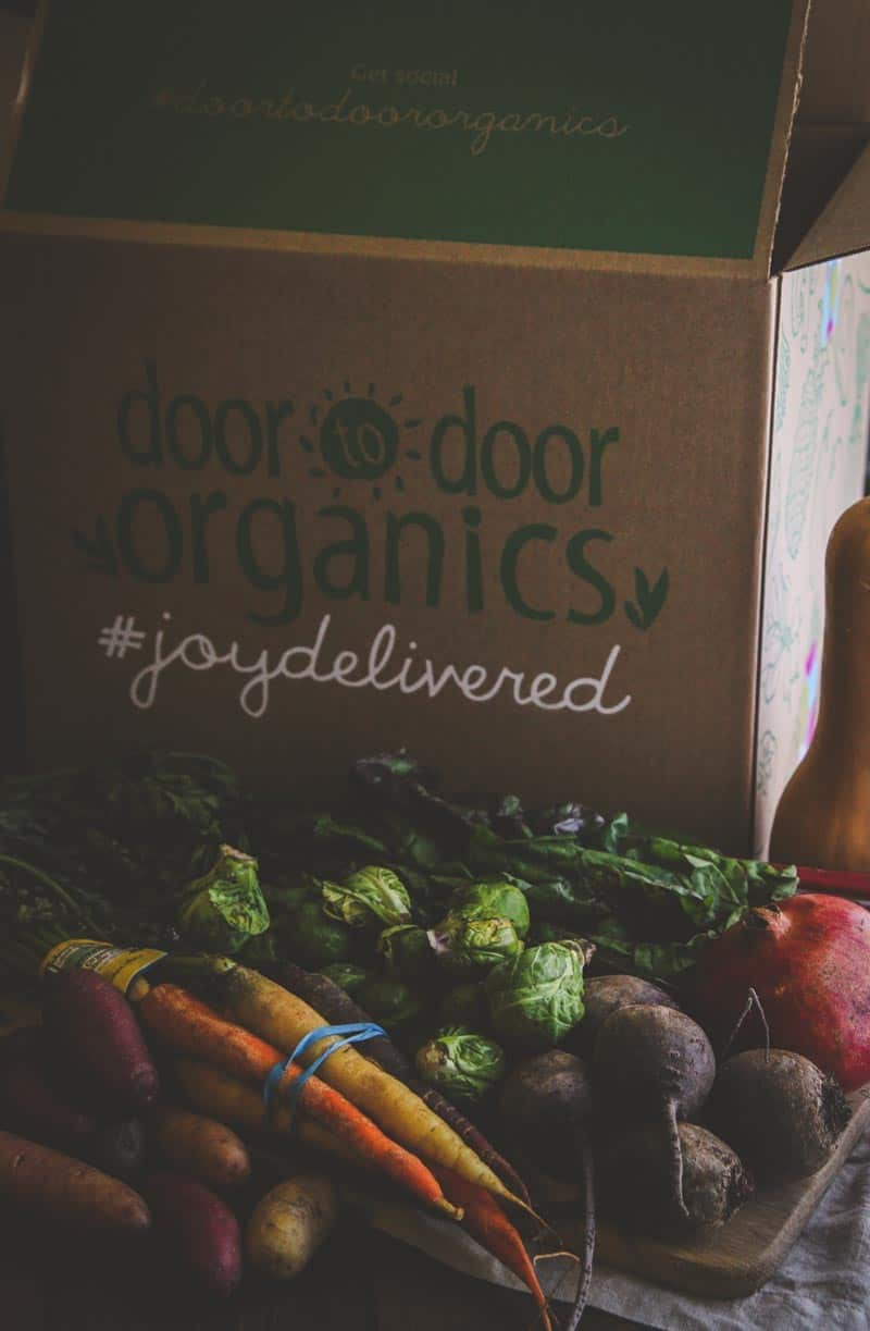 Door to Door Organics winter produce box
