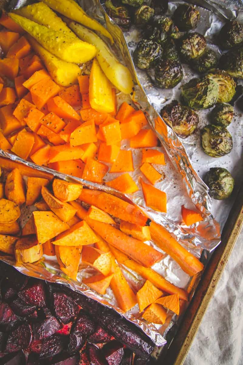 Roasted winter vegetables from @sweetphi