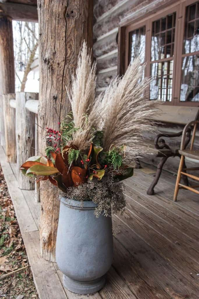 Beautiful outdoor floral arrangements