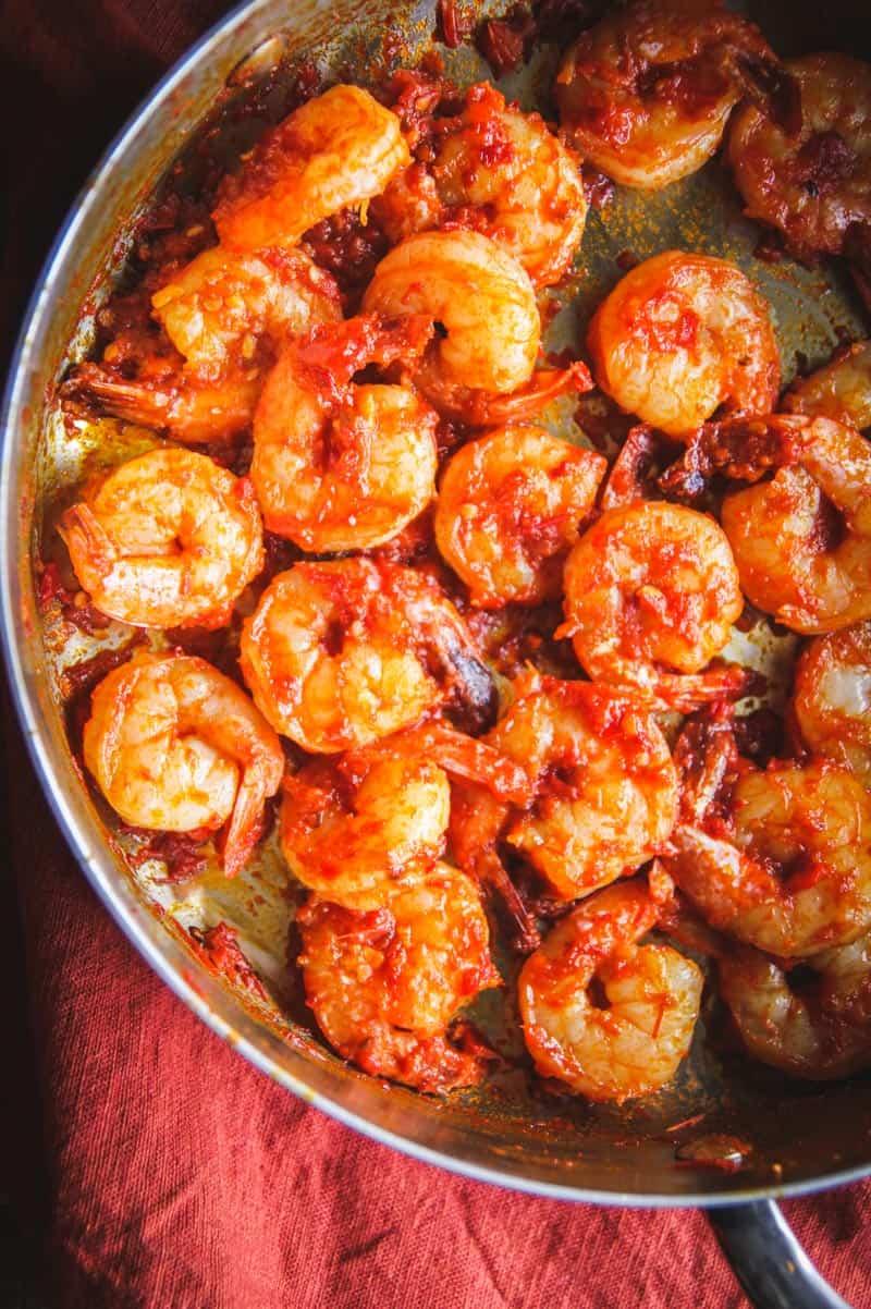 Spicy harissa shrimp from @sweetphi