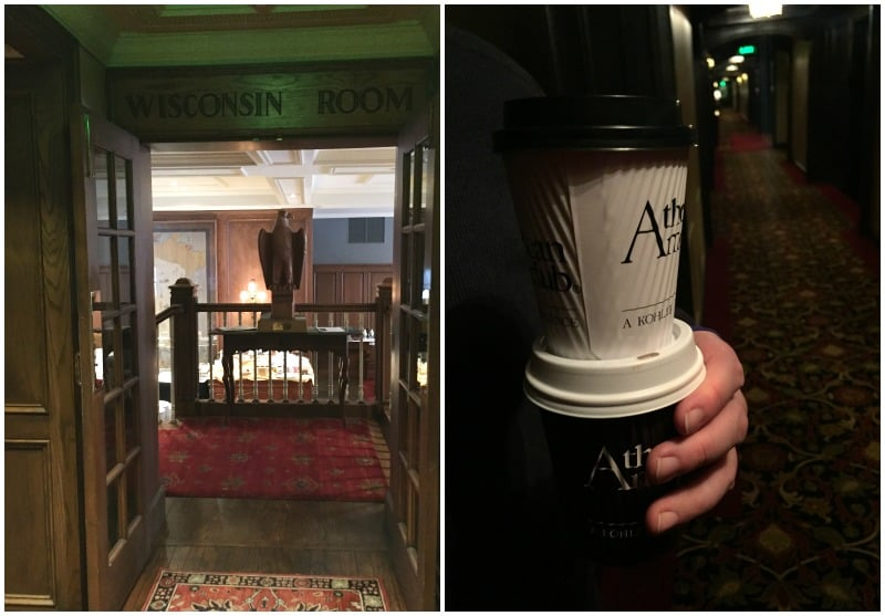 The Wisconsin Room and coffee at The American Club