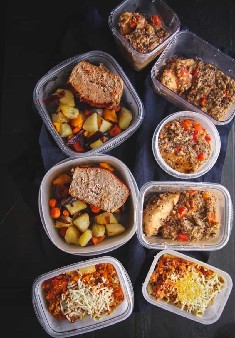 Turkey meatloaf and healthy meal planning recipes from @sweetphi