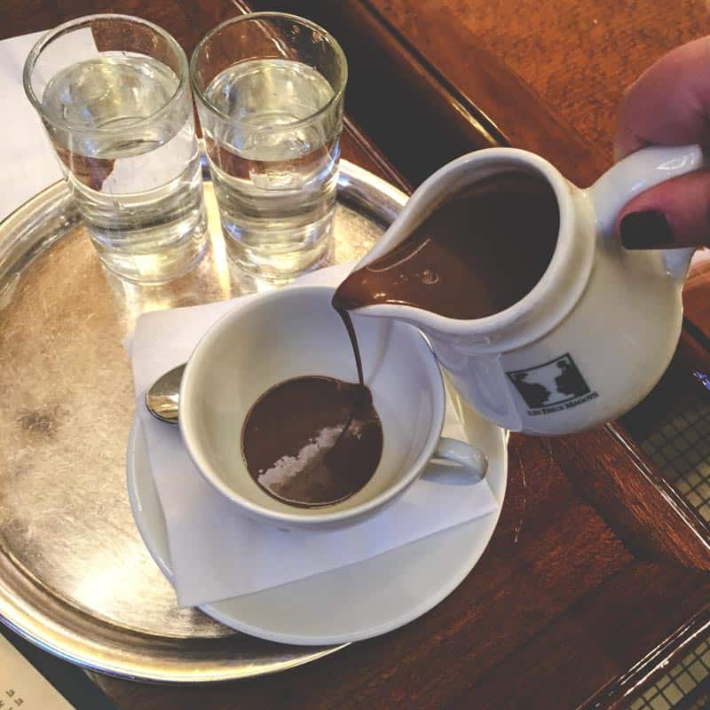 French hot chocolate in Paris