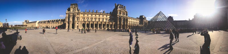 The expanse of the Louvre