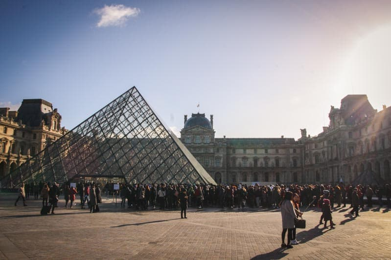 The Louvre from an art viewing trip by @sweetphi