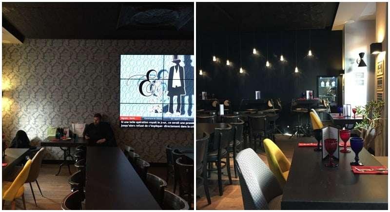 Cafe at the Hotel Eugene En Ville Paris