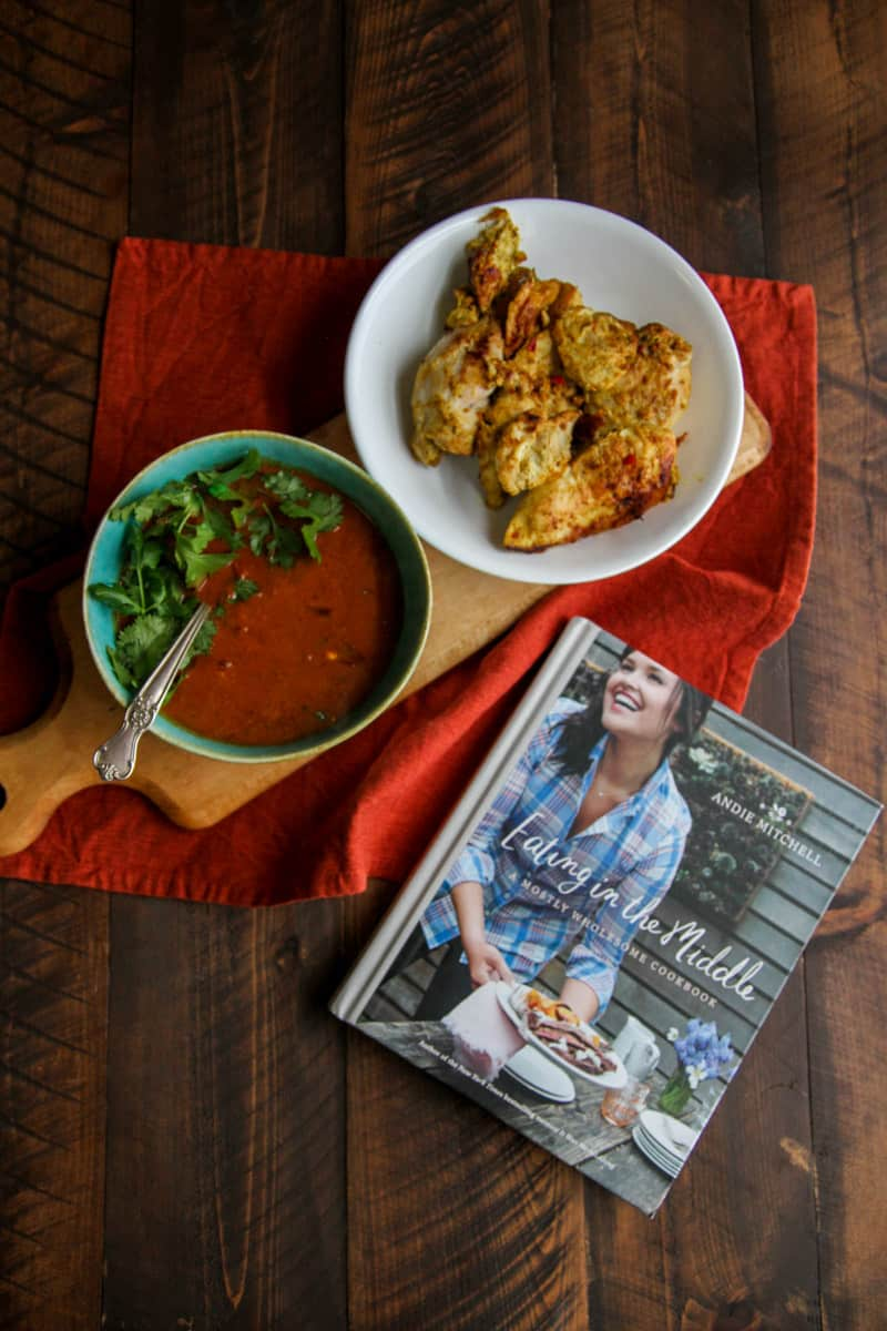 Chicken curry with ginger and yogurt from Andie Mitchell's cookbook