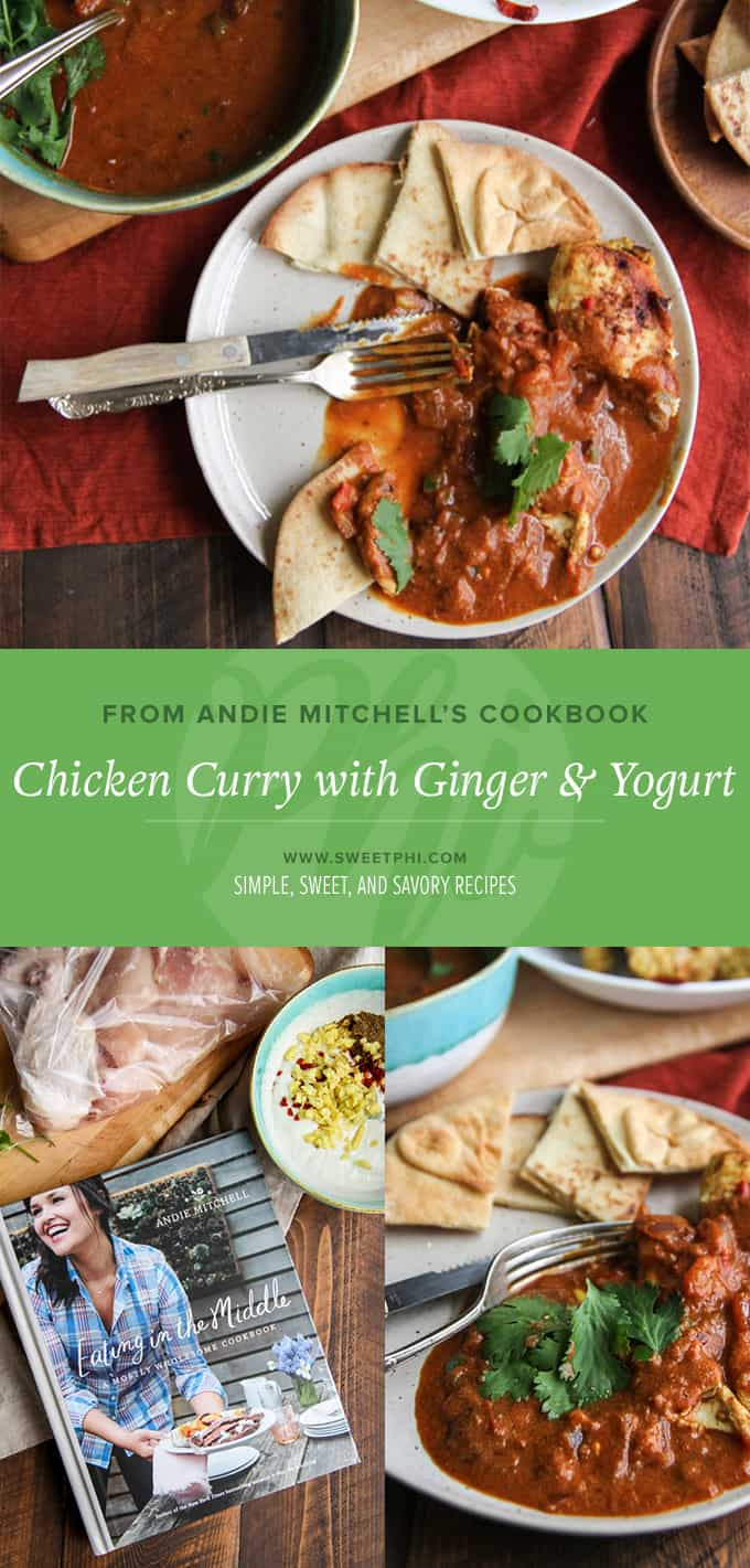 Chicken curry with ginger and yogurt on the @sweetphi blog
