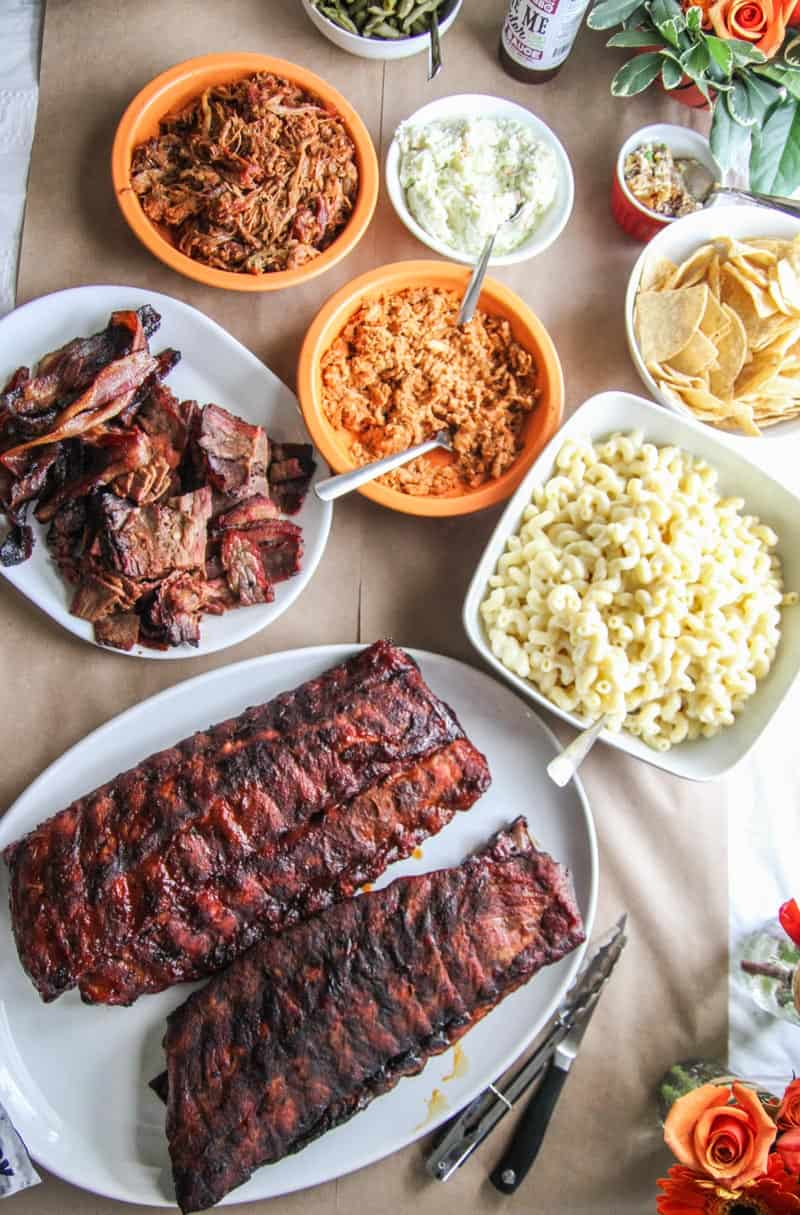 The best bbq and sides for a March Madness party from Pig of the Month