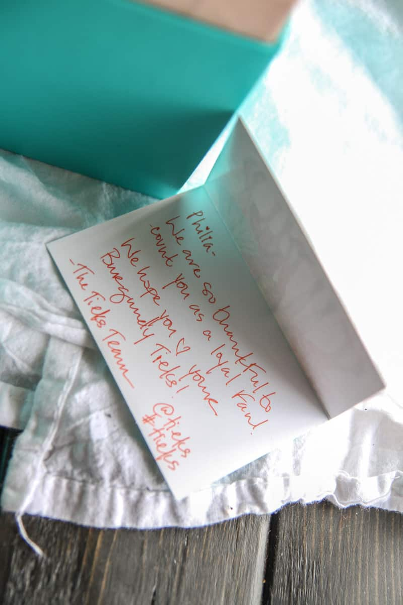 Tieks shoes packaging from @sweetphi review