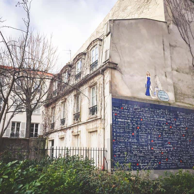 Wall of Love in Paris - Viator walking tour of Montmartre